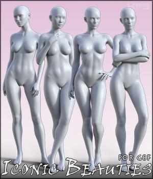 HFS Iconic Beauties for Genesis 8 Females 3D Figure Assets DarioFish