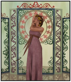 Mucha Props for Daz Studio 3D Models Lully