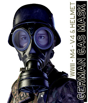 German Gas Mask - Extended License 3D Models Extended Licenses tannenbaum