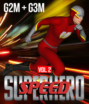 SuperHero Speed for G2M and G3M Volume 2 3D Figure Assets GriffinFX