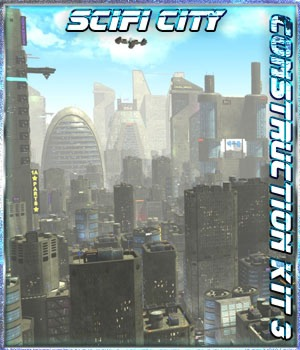 SciFi City Construction Set 3 3D Models 3-d-c