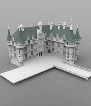 Chateaux Azay le Rideau (for DAZ Studio) 3D Models VanishingPoint