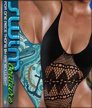 SWIM Couture for One Piece Thong 3D Figure Assets Sveva