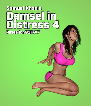 Samuel Khan's Damsel in Distress Poses 4 for G3F/V7 3D Figure Assets SamuelKhan