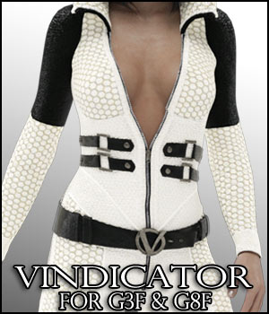 Vindicator Catsuit for G3F / G8F 3D Figure Assets RPublishing