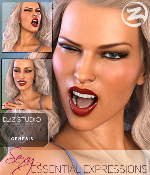 Z Sexy Essential Expressions for the Genesis 8 Females 3D Figure Assets Zeddicuss