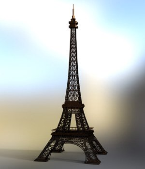 Eiffel Tower - for DAZ Studio  3D Models VanishingPoint