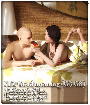 STZ Good morning G3 G8 3D Figure Assets santuziy78