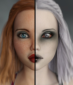 WICKED GIRLS - Head and Body Morphs for Teen Josie 8 3D Figure Assets Anagord