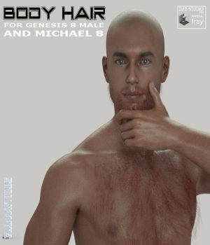 Body Hair for Genesis 8 Male and Michael 8 3D Figure Assets farconville