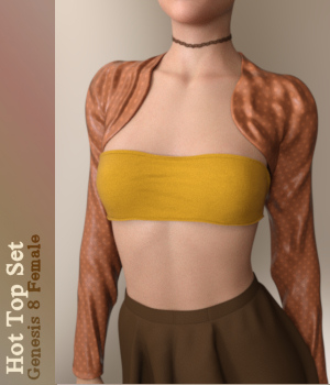 Hot Top Set for Genesis 8 Female by Karth
