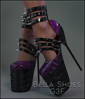 Bella Shoes G3F 3D Figure Assets SynfulMindz