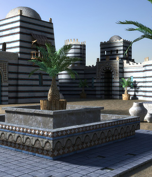Sultan Palace - Extended License 3D Game Models : OBJ : FBX 3D Models Extended Licenses dexsoft-games