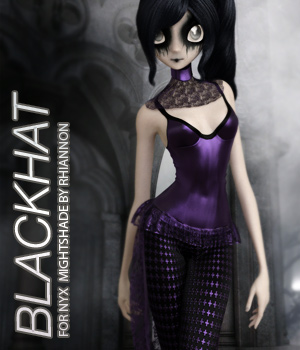 BLACKHAT - NyX Nightshade 3D Figure Assets Anagord