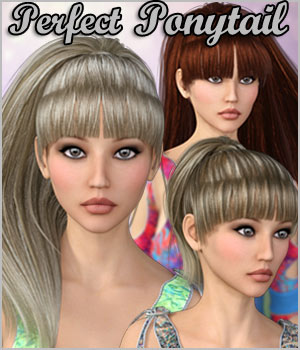 Perfect Ponytail Hair G2F and G3F With Dson - Extended License 3D Figure Assets Extended Licenses RPublishing