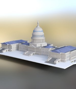 US Capitol - for DAZ Studio  3D Models Digimation_ModelBank