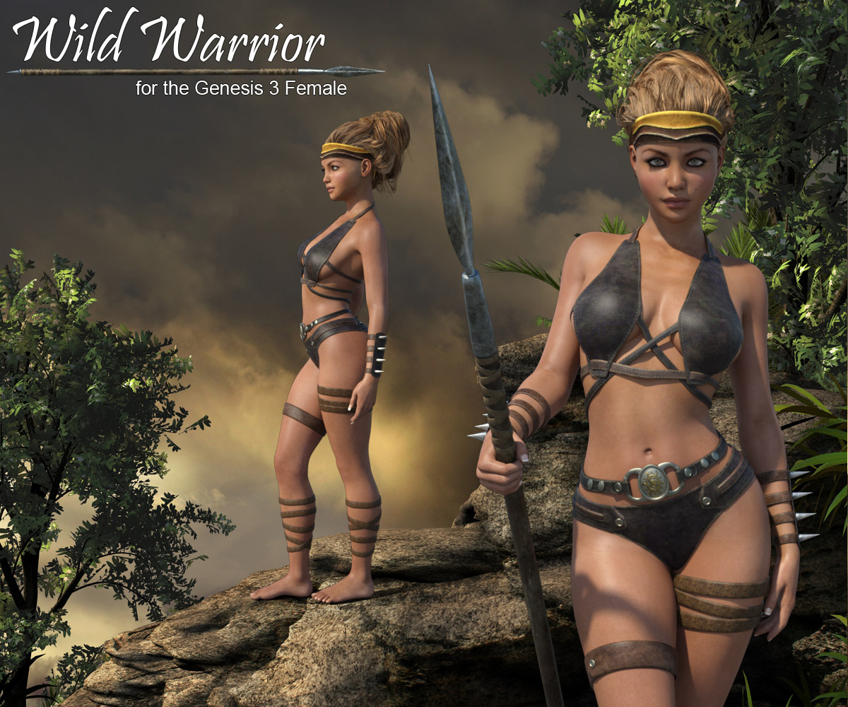 Wild Warrior for the Genesis 3 Female - Extended License