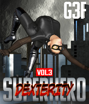 SuperHero Dexterity for G3F Volume 3 3D Figure Assets GriffinFX