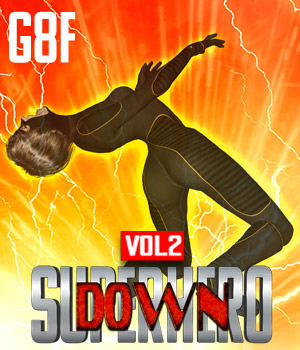 SuperHero Down for G8F Volume 2 3D Figure Assets GriffinFX