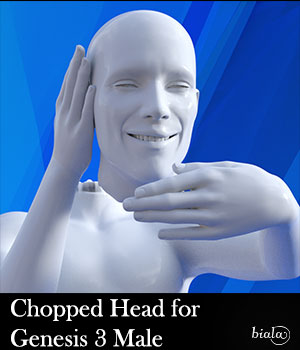 Chopped Head for Genesis 3 Male 3D Figure Assets biala