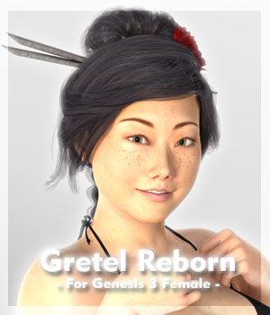 Gretel Reborn for Genesis 3 Female 3D Figure Assets guaiamustudio