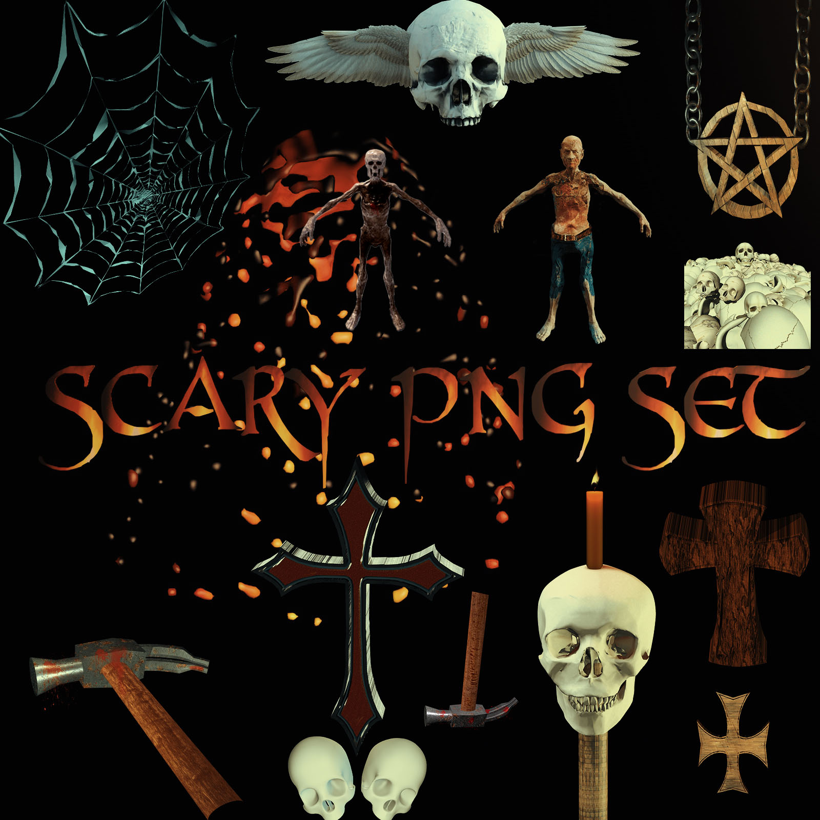 SCARY-PNG-SET