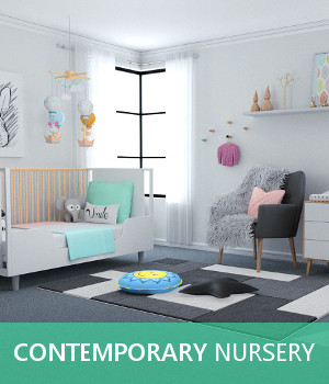 Contemporary Nursery 3D Models TruForm