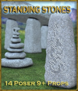 Adompha's Standing Stones 3D Models Adompha