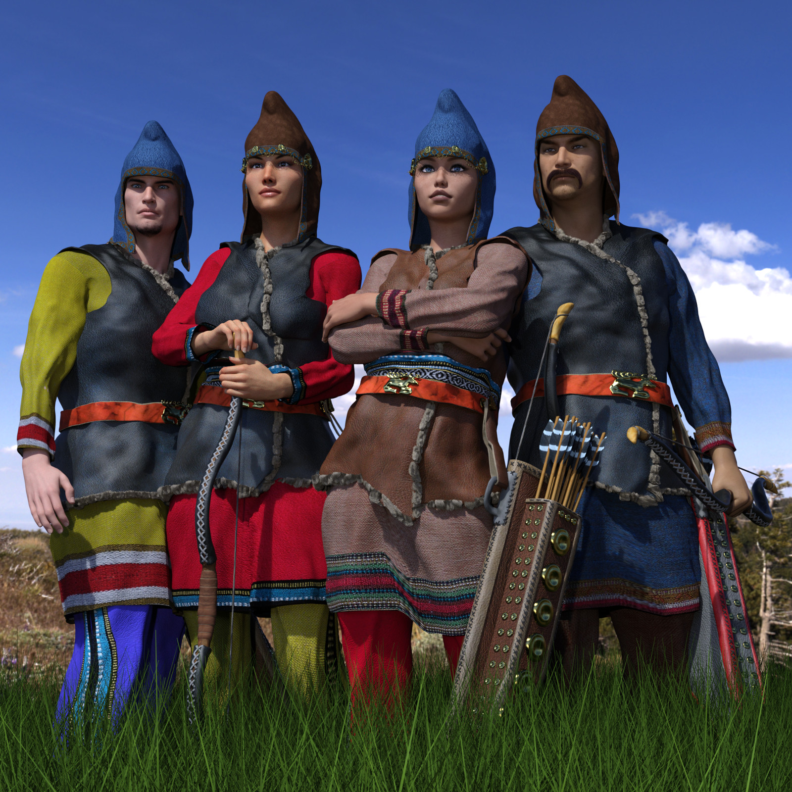 Scythian Archers for Genesis 3 and 8 by Deacon215