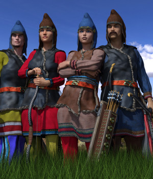 Scythian Archers for Genesis 3 and 8 3D Figure Assets 3D Models Deacon215