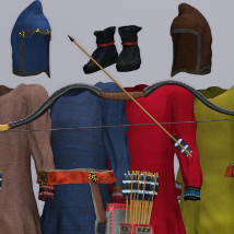 Scythian Archers for Genesis 3 and 8 image 7