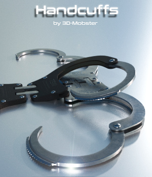 Handcuffs 3D Figure Assets 3D-Mobster