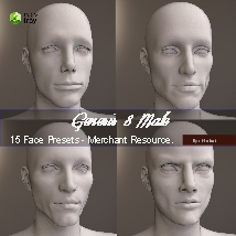 15 Face Presets for Genesis 8 Male - Merchant Resource image 3