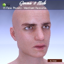 15 Face Presets for Genesis 8 Male - Merchant Resource image 6