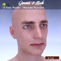 15 Face Presets for Genesis 8 Male - Merchant Resource image 7