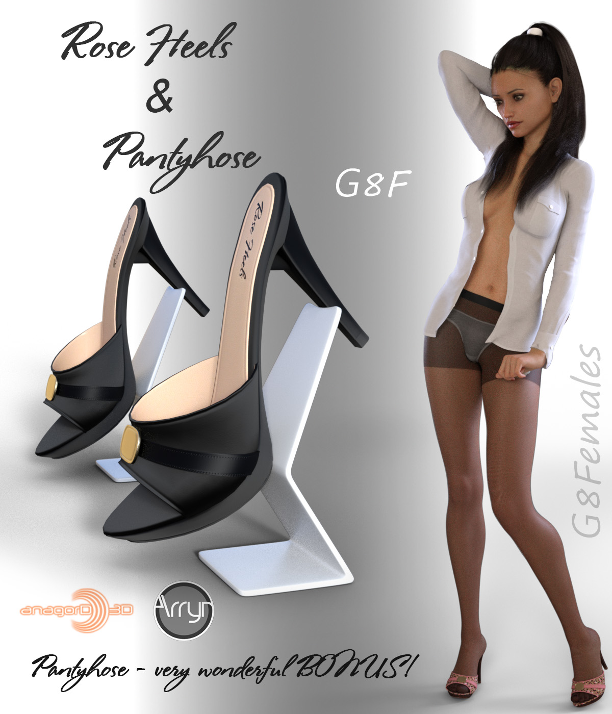 Rose Heels and Pantyhose G8F by Arryn