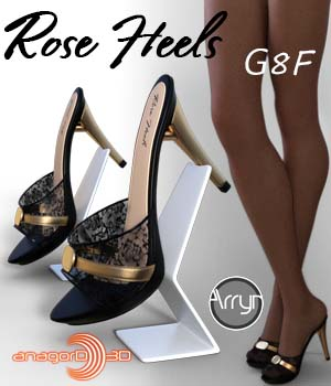 Rose Heels and Pantyhose G8F 3D Figure Assets Arryn
