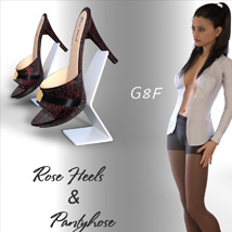 Rose Heels and Pantyhose G8F image 2