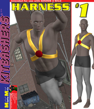 Kitbashers G3M Harness-001 3D Figure Assets MightyMite