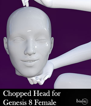 Chopped Head for Genesis 8 Female 3D Figure Assets biala