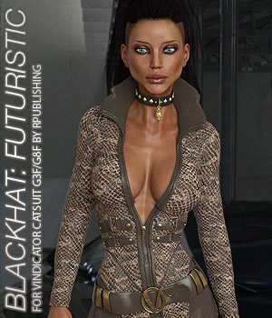 BLACKHAT:FUTURISTIC - Vindicator Catsuit for G3F  G8F 3D Figure Assets Anagord