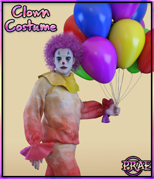 Prae-Clown Costume for G3M 3D Figure Assets prae