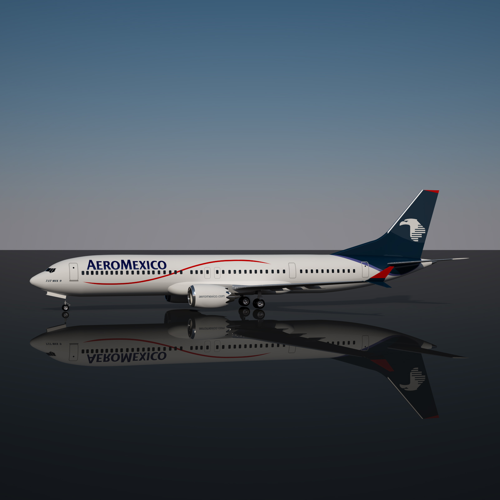Aeromexico 737 MAX - 9 Extended License