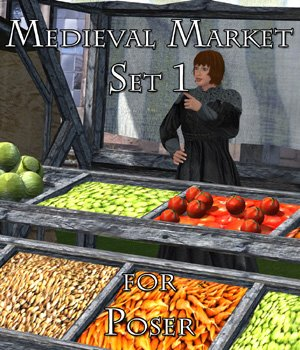 Medieval Market 1 - for Poser  - Extended License 3D Models Extended Licenses VanishingPoint