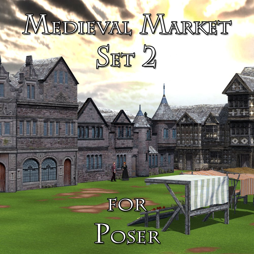 Medieval Market 2 - for Poser  by VanishingPoint