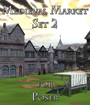 Medieval Market 2 - for Poser  3D Models VanishingPoint