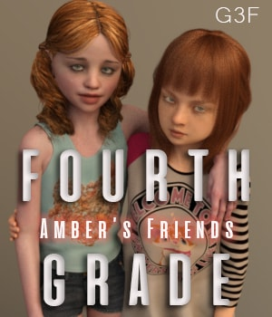 Amber's Friends Fourth Grade 3D Figure Assets AliveSheCried