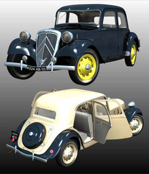 CITROEN TRACTION 1938 - for POSER 3D Models 3DClassics