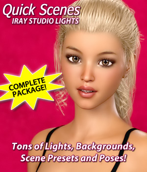 Quick Scenes - Iray Studio Lights 3D Lighting : Cameras 3D Models Foxy-3D
