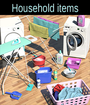 Everyday items, Household items 3D Models 2nd_World